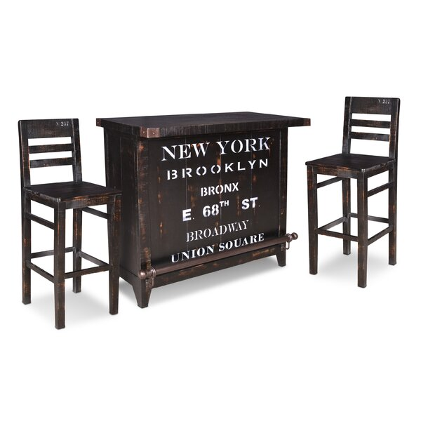 Sandie Bar Set with Wine Storage by 17 Stories