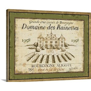 French Wine Label III by Daphne Brissonnet Vintage Advertisement on Wrapped Canvas by Great Big Canvas