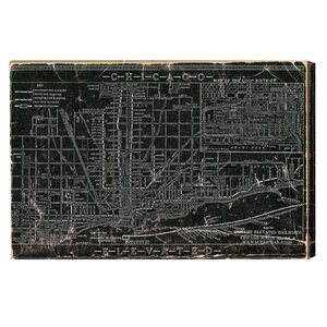 Hatcher & Ethan Chicago Railroad Graphic Art on Canvas by Oliver Gal