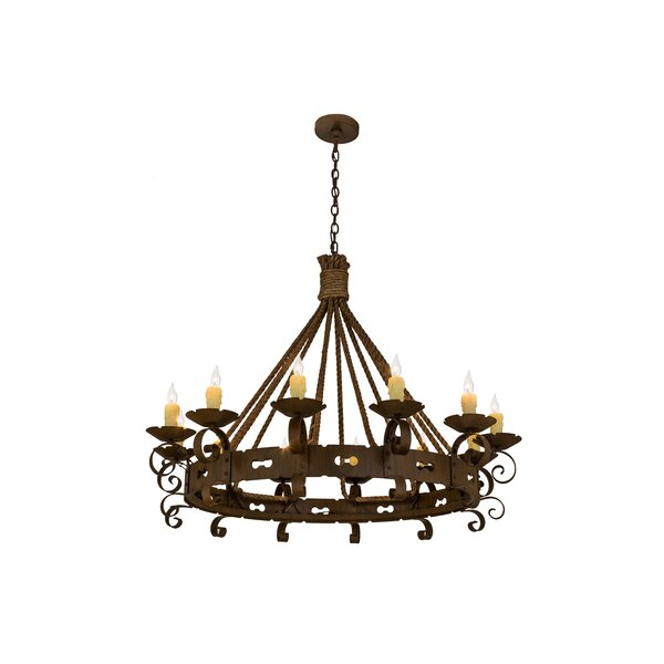 Wirksworth 12 - Light Candle Style Wagon Wheel Chandelier by Astoria Grand Astoria Grand