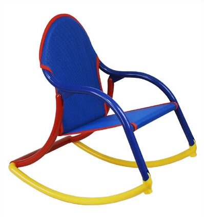 Magnificent Sotelo Personalized Kids Rocking Chair In Blue Mesh Ocoug Best Dining Table And Chair Ideas Images Ocougorg