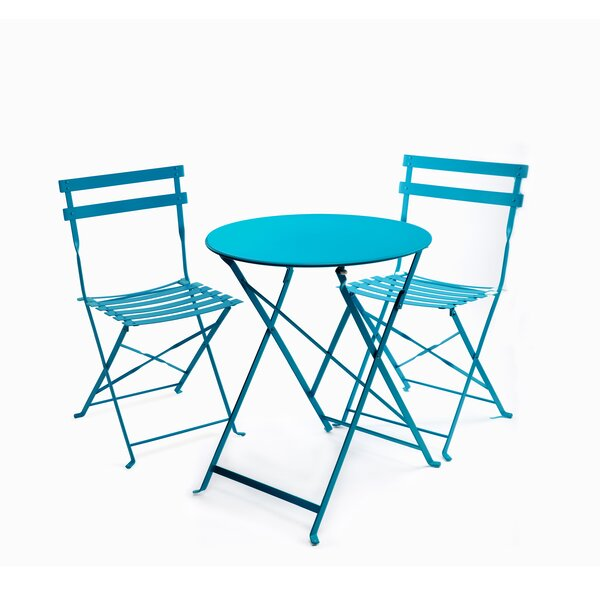 Fennell 3 Piece Patio Table Set by Highland Dunes