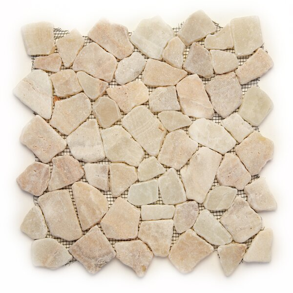 Decorative Pebbles Random Sized Natural Stone Pebble Tile in Alor Crystal by Solistone