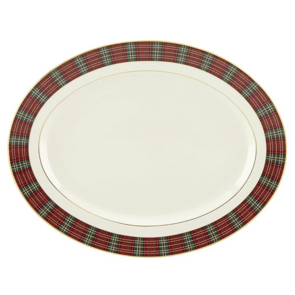 Winter Greetings® Plaid Oval Platter by Lenox