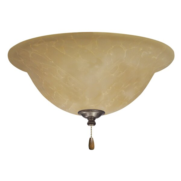 3-Light Alabaster Glass Shade Bowl Ceiling Fan Light Kit by Darby Home Co