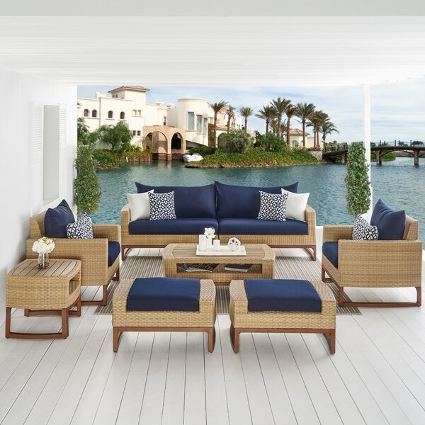 Addison 8 Piece Sunbrella Sofa Set with Cushions by Bayou Breeze
