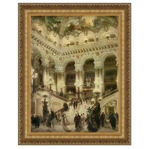 Le Couloir de l'Opera by Jean Beraud Framed Painting Print by Design Toscano