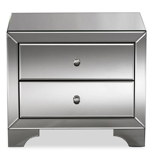Mair Glamour 2 Drawer Nightstand by Rosdorf Park