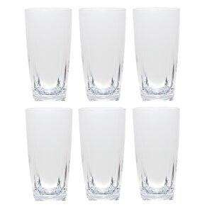 acrylic highball glass set of 6 - Highball Glasses