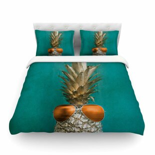 24 Karat Pineapple By Chelsea Victoria Featherweight Duvet Cover