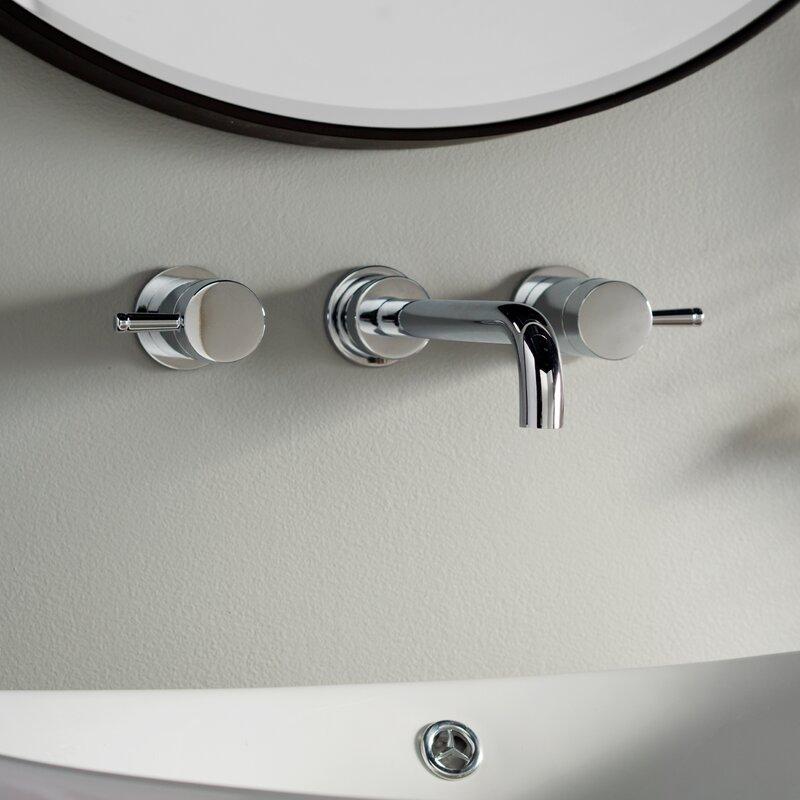 American Standard Serin Wall mounted Double Handle Bathroom Faucet ...