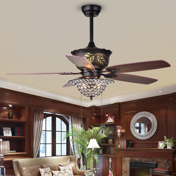 Burner 52 5 Blade Ceiling Fan by Fleur De Lis Living