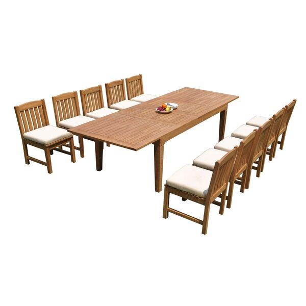 Grijalva 11 Piece Teak Dining Set by Rosecliff Heights