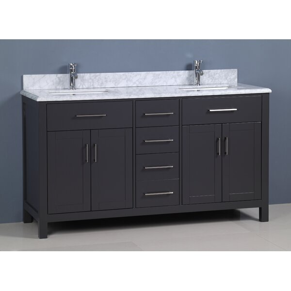 Flannery 60 Double Bathroom Vanity Set by Ebern Designs