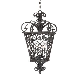 Mellen 4-Light Outdoor Hanging Lantern By Three Posts
