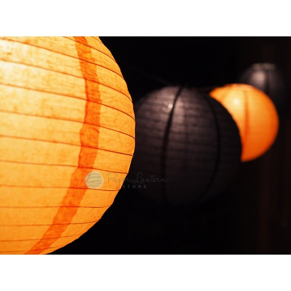 Halloween Cord and Paper Lantern String Light by The Paper Lantern Store