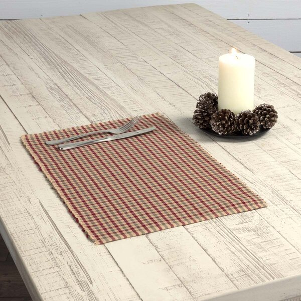Leppert Plaid Ribbed Placemat (Set of 6) by Gracie Oaks