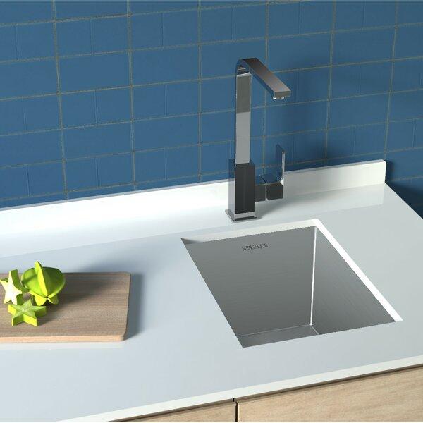 MENSARJOR 17 x 13 18 Undermount Kitchen Sink With Adjustable Dish Tray & Drain, Deep Basin