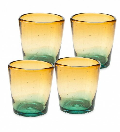 Chumbley Golden Shore Recycled Glass Shot Glass (Set of 4) by Red Barrel Studio