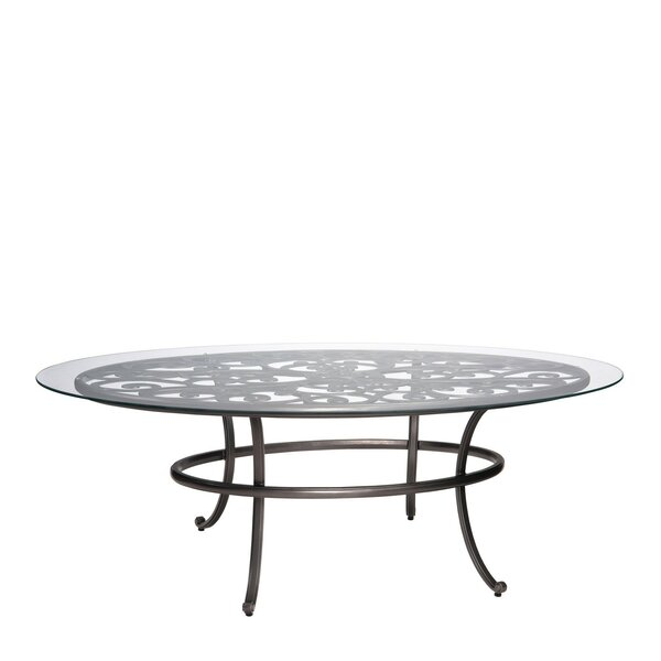 New Orleans Oval Umbrella Coffee Table (Set of 2) by Woodard