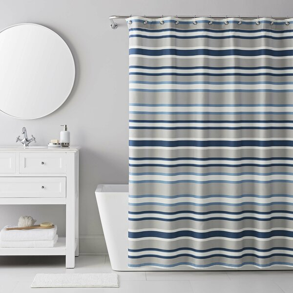 13 Piece Bradley Stripe Shower Curtain Set by IZOD