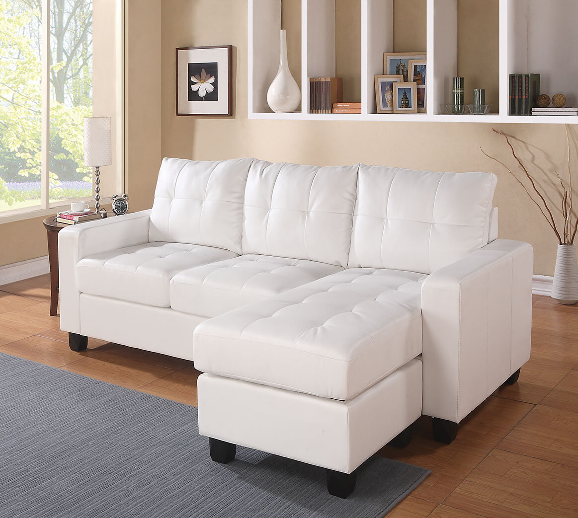 ACME Furniture Lyssa Reversible Sectional with Ottoman & Reviews ...