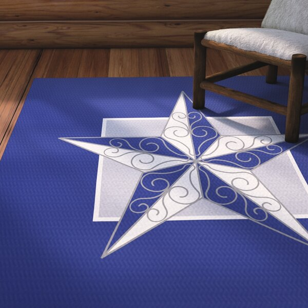Meigs Night Star Royal Blue/Gray Indoor/Outdoor Area Rug by Laurel Foundry Modern Farmhouse