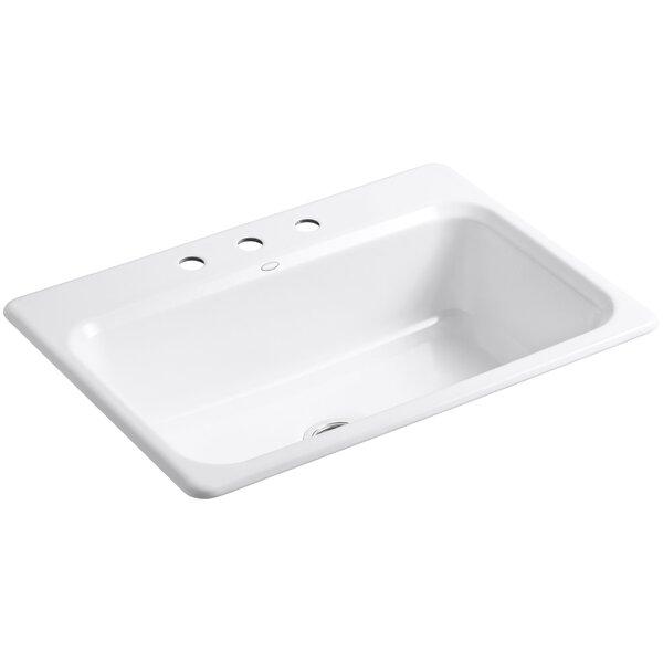 Bakersfield 31 L x 22 W x 8-5/8 Top-Mount Single-Bowl Kitchen Sink by Kohler