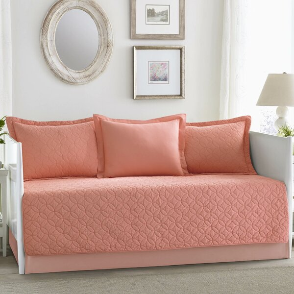 Solid Coral Cotton 5 Piece Daybed Set by Laura Ashley Home by Laura Ashley Home