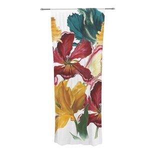 Flower Power Nature Sheer Rod Pocket Curtain Panels Set Of 2