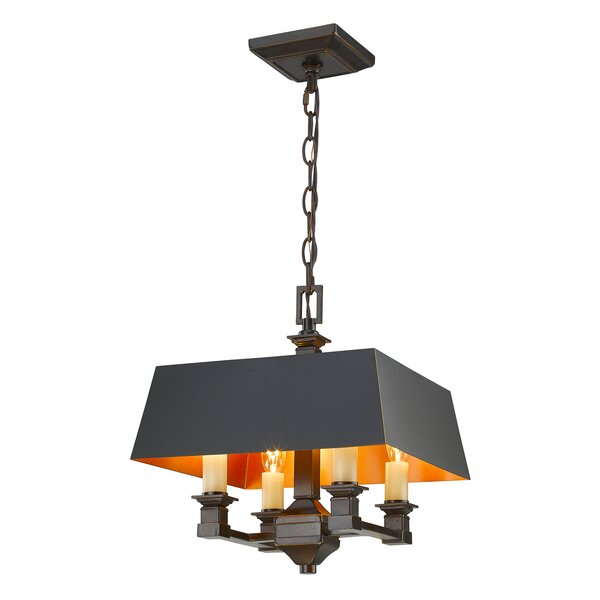 Columbine Valley 4-Light Semi Flush Mount by Laurel Foundry Modern Farmhouse
