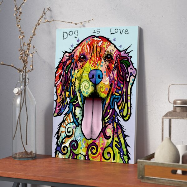 Dog is Love Graphic Art on Wrapped Canvas by East Urban Home