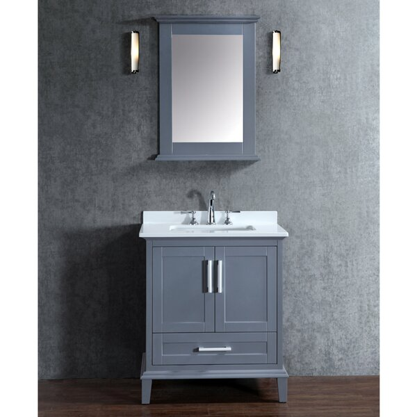 Sunderland 30 Single-Sink Bathroom Vanity Set with Mirror by Latitude Run