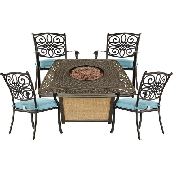 Gebo 5 Piece Multiple Chairs Seating Group by Charlton Home