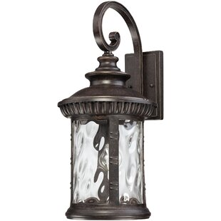 Compare prices Baxter 1-Light Outdoor Wall Lantern By Astoria Grand