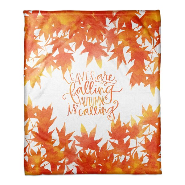 Locke Leaves Falling, Autumn Calling Blanket by The Holiday Aisle