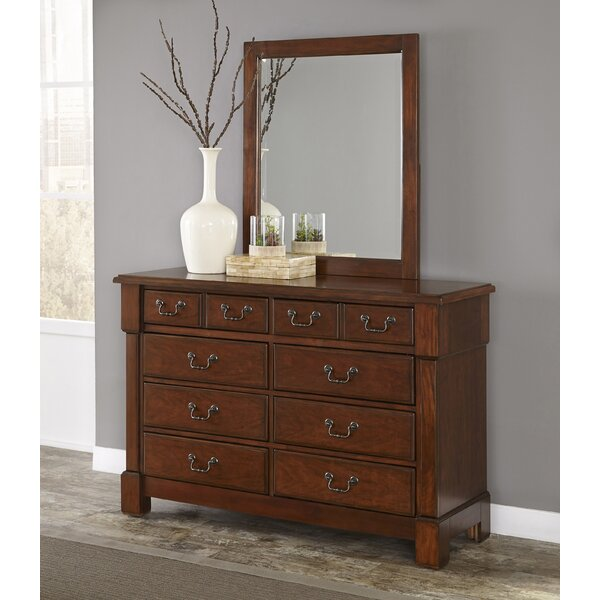 Cargile 8 Drawer Double Dresser with Mirror by Darby Home Co