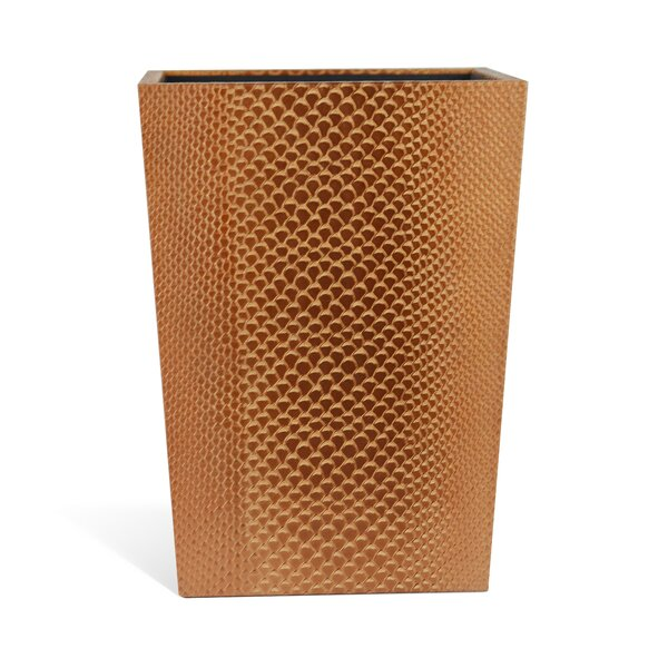 Genuine Leather Waste Basket by Rembrandt Home