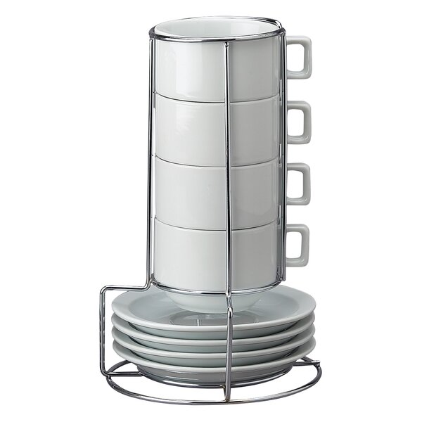 Stackable Cappuccino Coffee Tea Set By Hic Harold Import Co.