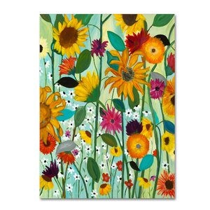 'Sunflower House' Painting Print on Wrapped Canvas by Trademark Fine Art