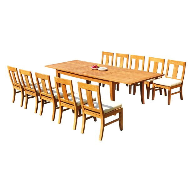 Kronqui 11 Piece Teak Dining Set by Rosecliff Heights
