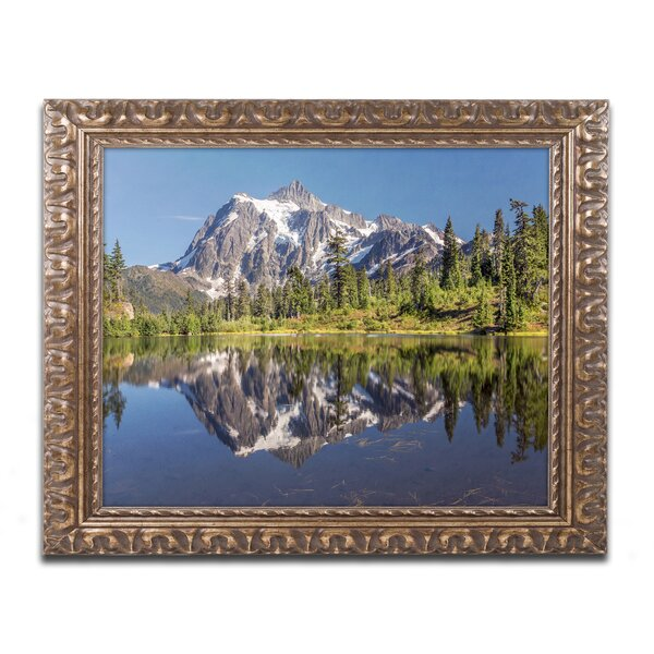 Picture Lake by Pierre Leclerc Framed Photographic Print by Trademark Fine Art