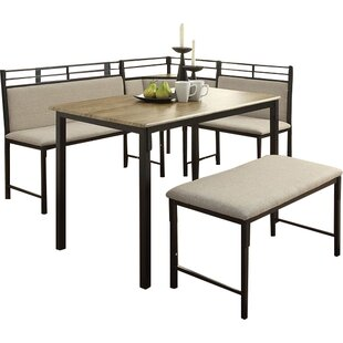 Kitchen Corner Table Set Modern contemporary kitchen corner table sets allmodern moonachie corner 3 piece dining set workwithnaturefo