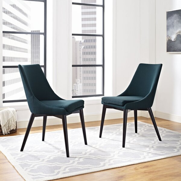 Carlton Wood Leg Upholstered Dining Chair By Corrigan Studio