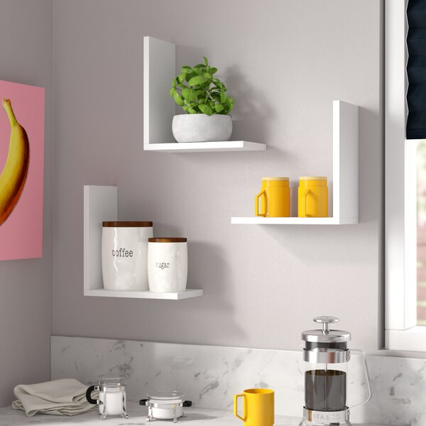 Chet Modern Wall Shelf (Set of 3) by Brayden Studio