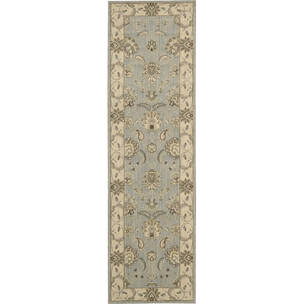 Humphries Hand-Woven Aqua/Beige Area Rug by Alcott Hill