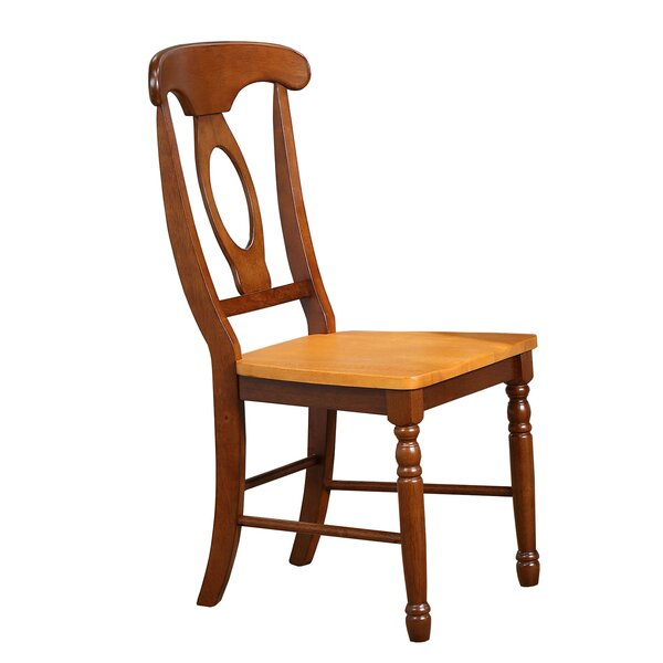 Thoma Napoleon Solid Wood Dining Chair (Set of 2) by August Grove