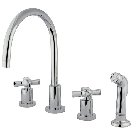 default_name - Kingston Brass Millennium Widespread Kitchen Faucet & Reviews
