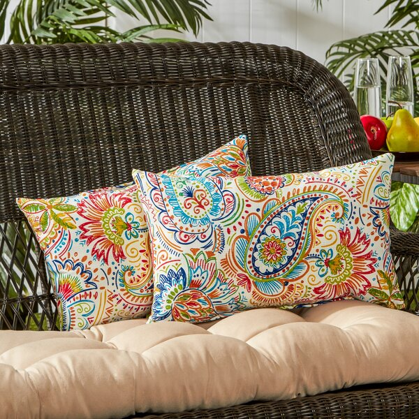 Outdoor Lumbar Pillow (Set of 2) by Greendale Home Fashions