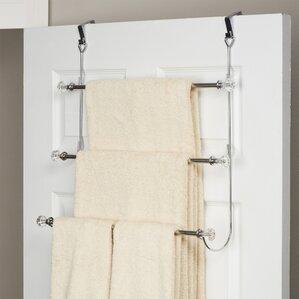 towel racks for bathroom. Wayfair Basics 3 Tier Over the Door Towel Rack Racks You ll Love
